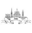 france label famous french landmark set travel vector image