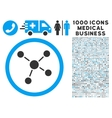 Links Icon with 1000 Medical Business Pictograms vector image