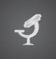 microscope sketch logo doodle icon vector image