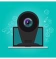 online camera webcam security surveillance vector image