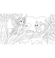 a cute fairy sits on a tree vector image