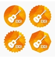 Acoustic guitar sign icon Paid music symbol