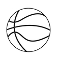 basketball sport isolated icon vector image vector image