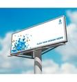 Billboard against sky background day image vector image vector image
