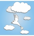 bird flying in the sky vector image vector image