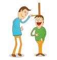 Boy getting taller vector image