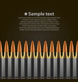 bullet background vector image vector image