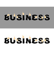 Business typography Pointing hand alphabet vector image vector image