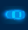 car top view digital modern concept vector image