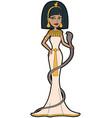 cartoon egyptian queen cleopatra vector image