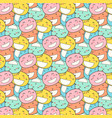 cat smile pattern background vector image vector image