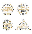 christmas and valentines winter sale signs poster vector image vector image