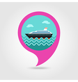Cruise liner pin map icon Summer Vacation vector image vector image