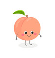 cute cartoon peach vector image vector image