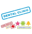 Dental Clinic Rubber Stamp vector image vector image