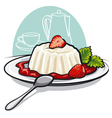 dessert with cream vector image vector image