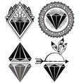 Diamond Vintage Hipster Labels of diamonds vector image