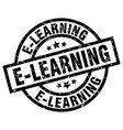 e-learning round grunge black stamp vector image vector image