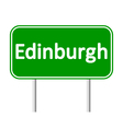 Edinburgh road sign vector image