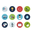Education and science icons vector image