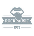 festival rock music logo simple gray style vector image vector image