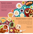 flat eastern sweets dishes vector image