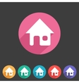 Flat game graphics icon home vector image vector image