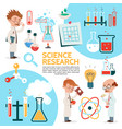 flat science template vector image vector image