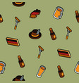 germany color outline isometric pattern vector image vector image