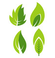 green leaf eco gaden and forest flat icons vector image