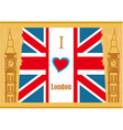 Grunge banner - i love London vector image vector image