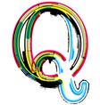 Grunge colorful font Letter Q vector image vector image