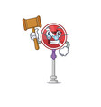 judge no right turn in character vector image vector image