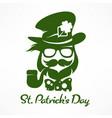 leprechaun hipster saint vector image