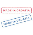 made in croatia textile stamps vector image vector image