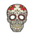 mask day dead sketch engraving vector image vector image