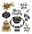 Merry Christmas lettering set Hand lettered