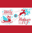 merry christmas santa claus concept banner simple vector image vector image