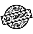 Mozambique rubber stamp vector image vector image