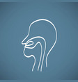 nose anatomy outline chalk painted on chalkboard vector image