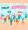 parade people flat composition vector image vector image