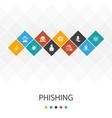 phishing trendy ui template infographics concept vector image