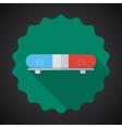 Police Medic Car Alarm Flat icon background vector image vector image