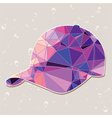 Retro baseball cap made of triangles vector image