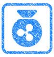 ripple money bag framed stamp vector image vector image
