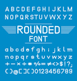 Rounded font Font Design vector image vector image