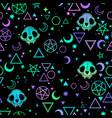 seamless depicting magic symbols and skulls vector image vector image