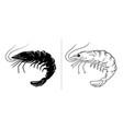 shrimp silhouette vector image