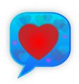 speech bubble heart emoji communication icon vector image
