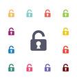 unlock flat icons set vector image vector image